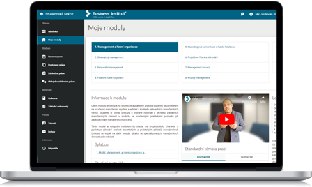 Modern e-learning system with video lectures and online library