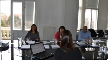 Defending final works at the Business Institut
